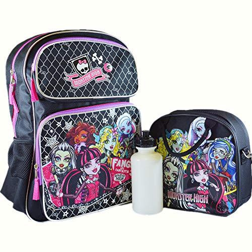 Monster High Großer Rucksack mit isolierter Lunchtasche, 2-teiliges Set.