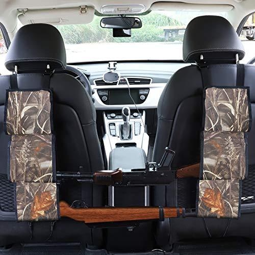 Accmor Car Seat Back Gun Sling, Camo Hunting Gun Strap Holder Organizer, Universal Car Concealed Seat Back Rifle Rack for Car Truck SUV Vehicles