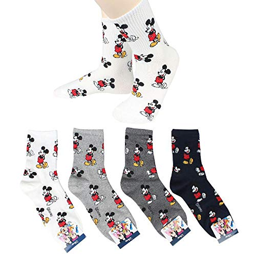 Mickey Maus Animation Comics Charakter Damen Mannschafts Socken 4 Paaren