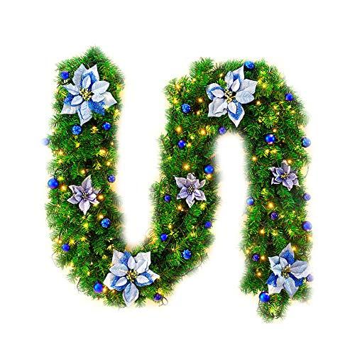 Ruikey Guirnalda de la Navidad Decoraciones caseras Decoraciones de la Navidad 25 * 270cm