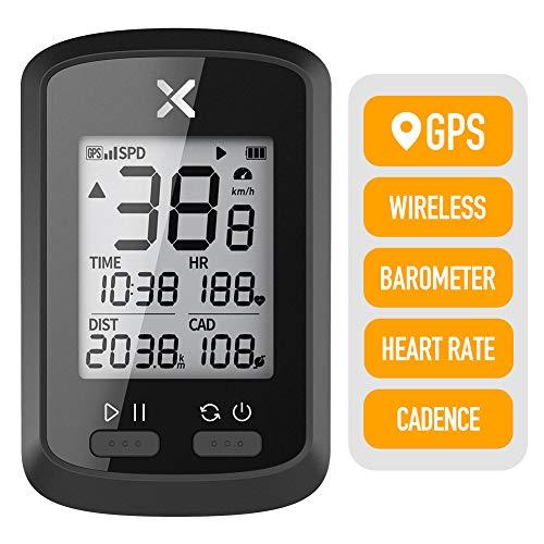 XOSS Bike GPS Computer G+ Wireless Speedometer Odometer Cycling Tracker Waterproof Road Bike MTB Bicycle Bluetooth ANT+ Cycling Computers (1 x G+ Computer)