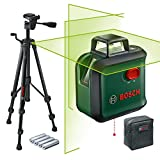 Bosch 0603663B04 AdvancedLevel 360 Level Set (Tripod, Range: Up to 24 m, Self-leveling: Up to ± 4 °, Green Laser, 4X AA Batteries, in Cardboard box)