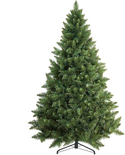 Prextex 6 Feet Premium Artificial Spruce Hinged Christmas Tree Lightweight/Easy to Assemble with...