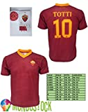 Camiseta Fútbol de la Roma con la escrita Totti 10,réplica autorizada 2016–2017, GIALLO-ROSSO