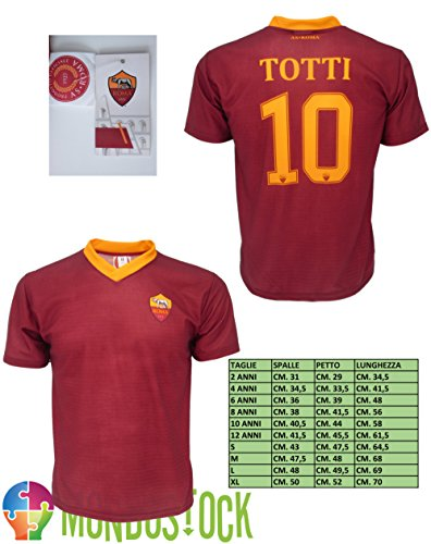 Laura Biagiotti Dolls Fußballtrikot Roma Totti 10, offizielle Nachbildung 2016 – 2017 Größe 12 Jahre