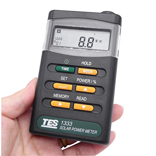 Signstek Handheld Portable Solar Power Irradiance Meter-Solar Power Radiation Meter-Sun Irradiance Tester