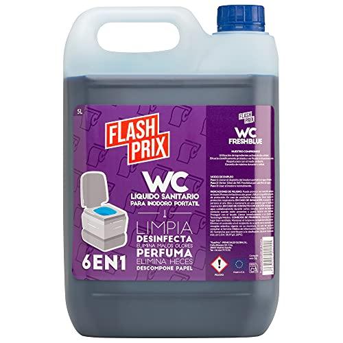 FlashPrix - Limpieza Inodoro Portátil WC Químico Caravanas - 5 litros