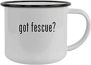 got fescue? - 12oz Camping Mug Stainless Steel, Black