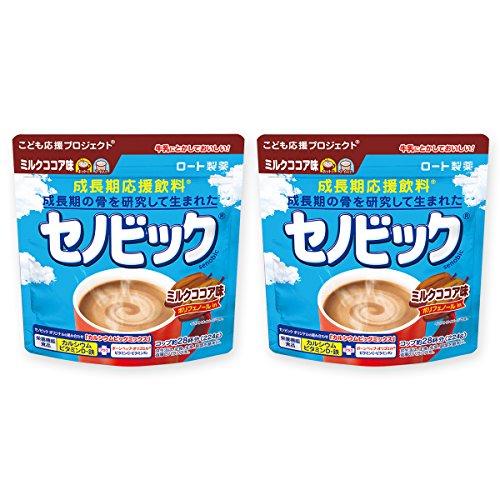 セノビック 成長期応援飲料 ミルクココア味 224g×2個(約1ヶ月分) ロート製薬公式