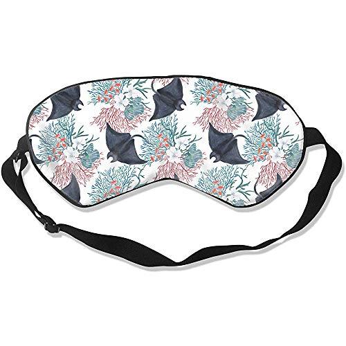 Manta Slaapmasker, bloemenpatroon, grappige oogstrips voor 's nachts en op reis