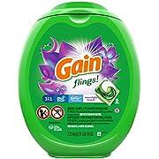 Gain flings! Laundry Detergent Soap Pacs, High Efficiency (HE), Moonlight Breeze Scent, 96 Count