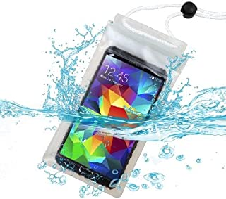 Premium Universal T-Clear Waterproof Case Bag (with Lanyard) for HTC One M9, 510 (Desire 510), One M8, Desire 601, One/M7, One SV, One X+, EVO 4G LTE, One X + MYNETDEALS Mini Touch Screen Stylus