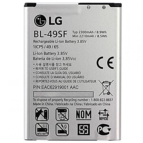 LG Lithium-Akku 2300mAh Typ bl-49sf Original für LG G4S H734 Bulk