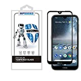 (2 Pack) CaptainShld for Nokia 4.2 Tempered Glass Screen Protector, (Full Screen Coverage) Anti Scratch, Bubble Free (Black)