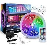 Tira de luces LED, 10M 5050 RGB 300 LED sincronizar a la música que cambia de color con mando a distancia de 40 teclas para dormitorio, hogar, cocina, bar, decoración interior