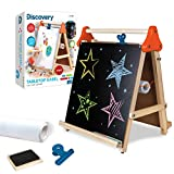 Product Image of the Discovery Kids 3-in-1 Tabletop Dry Erase Chalkboard Painting Art Easel, Includes...
