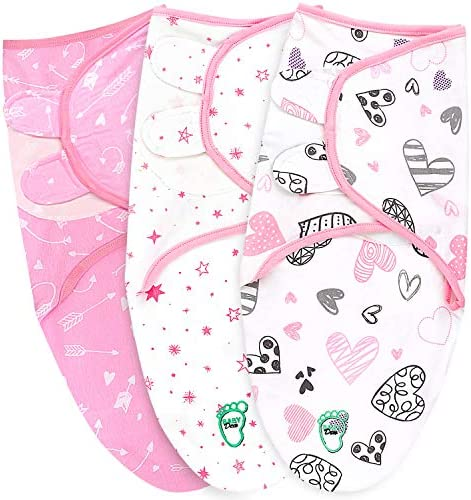 Baby Swaddle Blanket Wrap for Newborn Infant 0 3 Months 100 Breathable Cotton Swaddlers Sleep product image