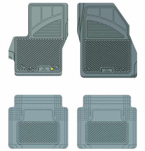 Koolatron Pants Saver 3 Piece All Weather Car Mat Set Gray