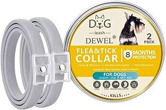 Volwco 2 Pack Collar Antipulgas para Perros, Collares Antiparasitario para 8 Meses De Protección, Impermeable E Ajustable, Collares De Garrapatas para Perros Pequeños, Medianos Y Grandes