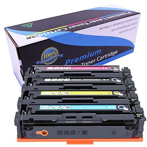 Cartucho de tóner 410A | CF410A CF411A CF412A CF413A (1negro, 1cian, 1amarillo, 1magenta) compatible con impresoras HP Color M452dn M452dw M452nw MFP M377 M477fdn M477fdw M477fnw -Colores