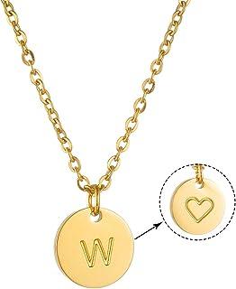 NFGHK Mode Lettre Pendentif Collier pour Femmes ou Filles Simple Collier Bijoux En pour Cadeau