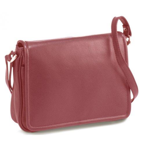 Bodenschatz Leder Tasche Überschlagtasche rot