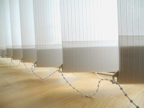 Sonnenschutz Vertikal Lamellen Vorhang 100 x 250 Weiss