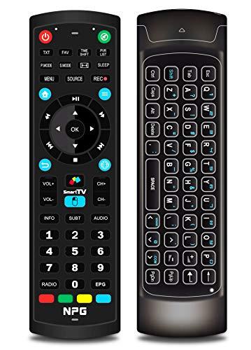 Mando a distancia con Teclado Qwerty para televisores NPG Smart TV Android | Control remoto TV IR & Wireless