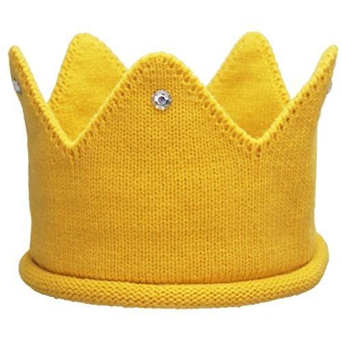 TotMore Baby Toddler Boys Girls Crown Warm Soft Birthday Knit Crochet Beanie  Hat a12df2caab4