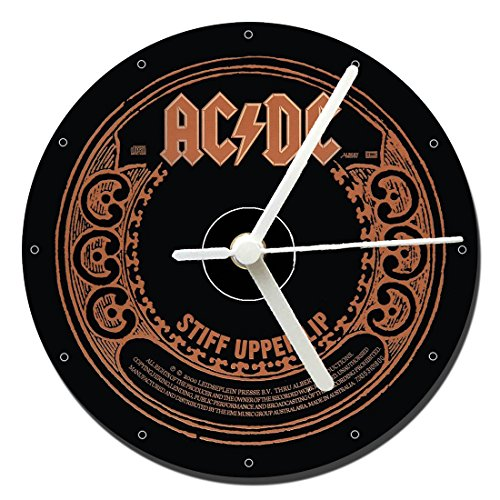 MasTazas ACDC Stiff Upper Lip Reloj CD Clock 12cm