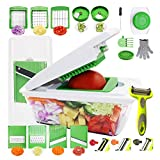 RTMAXCO Vegetable Chopper Mandoline Slicer Dicer Peeler Onion Chopper, Food Chopper Cutter Cheese Grater,Vegetables Spiralizer, All in 1 Adjustable Vegetables Slicer Veggie slicer, Salad Chopper