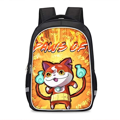 Yo-Kai Watch Equipaje Mochila Impresa Mochila al Aire Libre Elegante Bolso Escolar de Moda diseño de Moda Daypack Popular Estilos Bolsa de Viaje Adecuado para niños y niñas para Mujeres y Hombres
