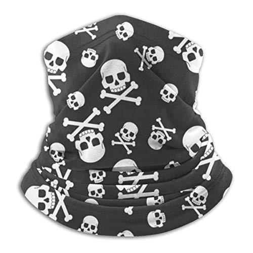 Skull And Crossbones Seamless Pattern Face Mask Bandanas For Dust, Outdoors, Festivals, Sports