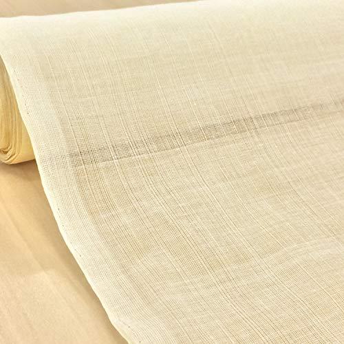 コットンボイル生地 無地【生成り】インド綿 ファブリック 生地 布 布地 手芸【1m単位】