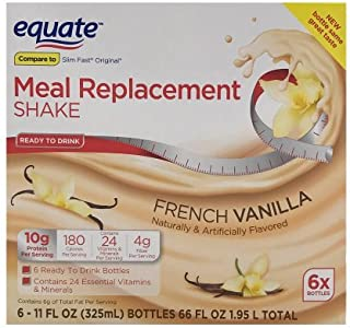 Equate french vanilla meal replacement shake - 11 Oz, 6 Ct