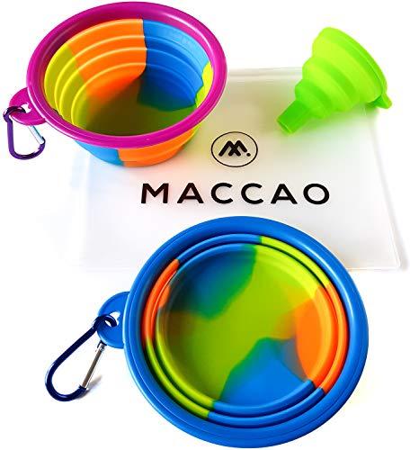 MACCAO Reisenapf 2er Set Silikon Faltbar für Hunde
