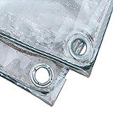 Lona Lonas Transparentes Multiusos for toldos Carpa Cubierta de Piscina for vehículos recreativos, PVC Reforzada Resistente al Agua Resistente con Ojales (Size : 1.8×2m)