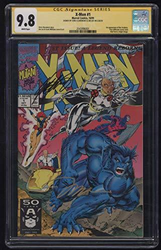 X-Men #1 CGC 9.8 W Pgs Signature Series SS Signed Chris Claremont & Jim Lee 1991 1st Acolytes Marvel Comics