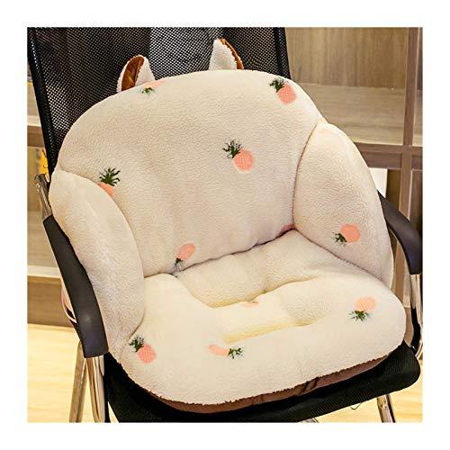 3D gestickte Kissen Lange Plüsch-Stuhl Sitzkissen Rückenkissen Komfortabler Thick Hocker Hintern Büro Kissen (Color : Style 3, Specification : 55x35x35cm)