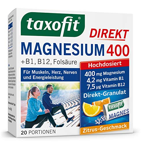 Taxofit Magnesium 400 Direct, 20 Portionen, 1er Pack (1 x 40 g)