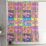 DHGER Duschvorhang Pink Panther Shower Curtain Decor for Men Women Boys Girls 60x72 in