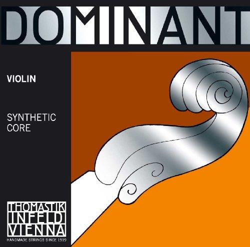 Thomastik Cuerdas para violín Dominant alma en nylon, juego 4/4 fuerte con Mi en acero