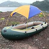 Yezytech Toldo Inflable de toldo de Kayak, Refugio de sombrilla para Barco,3 Personas Refugio de Sol de Barco Cubierta de toldo de velero Tienda de toldo de Pesca Tienda de protección Solar