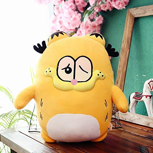 hsvgjsfa Muñecas Garfield Emoji Lindo, Juguetes de Felpa con muñecas de Almohada, Cojines de sofá, Regalos para niños 50cm Agraviado