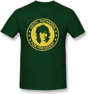 Man Keith Richards for President The Rolling Stones Adult Humorous Novelty Graphic Short T-Shirts Clothing