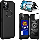 YUEKAI Compatible with iPhone 11 Case, EMF Protection Cell Phone Case for iPhone 11, with Wallet Card Holder Cover Function, Hard Shell and Soft Silicone Double Protection for iPhone 11 (Black)