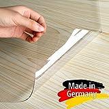 Plas-Tex Bodenschutzmatte Bürostuhlunterlage - Maß nach Wunsch - Bodenmatte Stuhlunterlage Transparent Klar (90x100cm)