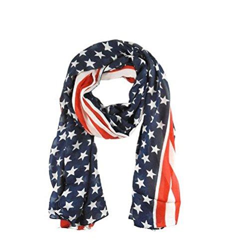 Demarkt chiffonsjaal chiffon stola sjaal zijden sjaal dames halsdoek omslagdoek loop slangsjaal ster patroon
