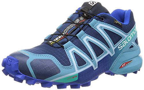 Salomon Damen Speedcross 4 Gtx Traillaufschuhe , Blau (Blue Depth/Blue Gum/Blue Yonder) , 36 2/3 EU