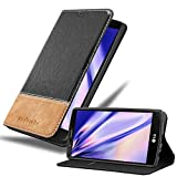 Cadorabo Book Case Compatible with LG G4 / G4 Plus in Black Brown - with Magnetic Closure, Stand Function and Card Slot - Wallet Etui Cover Pouch PU Leather Flip